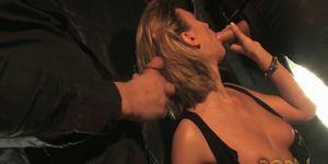 Claire Castel baisee par deux mecs