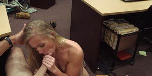 Real tattooed pawnshop amateur gets facial