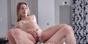 PORNPROS Tan Line Pussy Fucked After Bath Time Masturbation