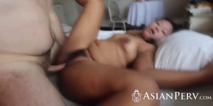Cheating asian wife wanted to fuck with a stranger