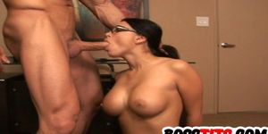 Sultry Stacked boss Eva Angelina