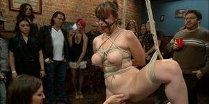 Busty slave rough lezdom public banged