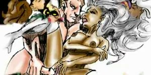 Famous cartoon porn sex - Famous cartoon superheroes orgy