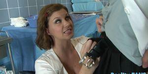 Busty cougar nurse banged doggystyle