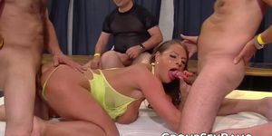 European bombshell fucking hard with big dick group