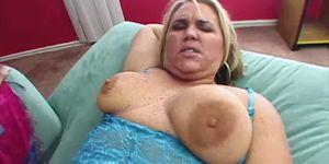 FuckFatties Big Blonde Woman Donnas Fat Pussy Riding Hard Cock