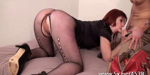 Emy anal fucked in pantyhose