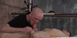 Cock riding maledom drains all of the cum out of subs balls