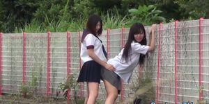 Kinky Japanese teens pissing