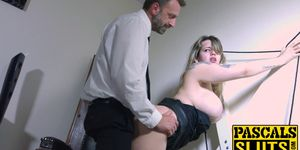 Madison Stewart s cum crawing satified by a dominative stud