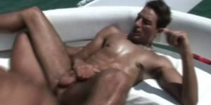 Latino Hunks Fucking Barebacked Gay Sex on the Boat