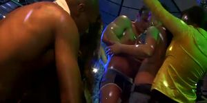 Horny girls fucked by male entertainers