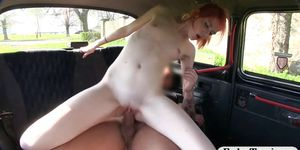 Redhead babe pounded by pervert driver Porn Videos