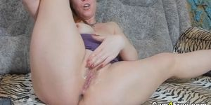 Sexy Ginger Milf Fucking Her Pussy