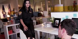 Latina cops feet jizzed