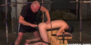Goth twink Jacob Daniels dominated with bondage and toys