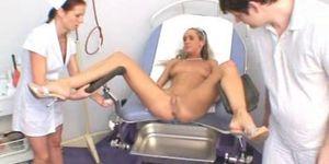 Gyno clinic examination of a czech girl