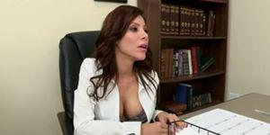 Latina big tit office