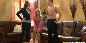 Amazing ly hot babes banged by nasty guy