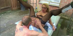 Desperate Wife Fucks the Neighbor when Husband is Working German