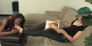 ROYAL MISTRESS - Interracial Lesbian Foot Fetish