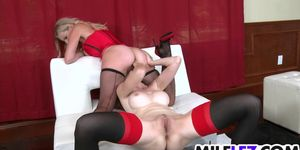Lingerie wearing Lesbos playing