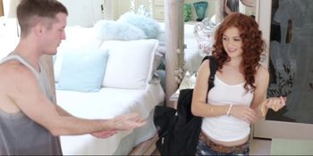 Petite Redhead Alice Green's Pussy Pounding!