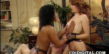 Angel Kelly and Shanna McCullough - Black And White Babes Sharing A Cock