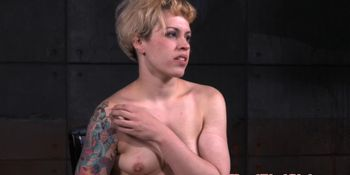Tattooed babe submits to maledom master