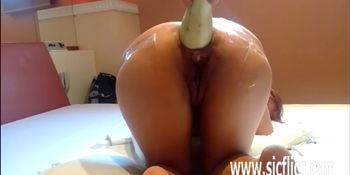 Anal fisting and fire extinguisher fucked amateur