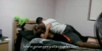 young couple fucks after class