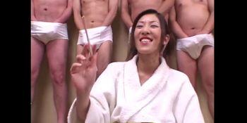 Cum And Sushi for 18 year old Japanese Teen - Japanese Bukkake Orgy