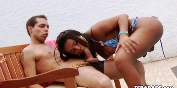Latin TS Stunner Andressa Lyra Gets Fucked Hard