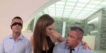Alluring babe dp fucked after spit roasted