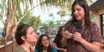 Cfnm babe sucks loser rod