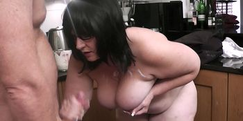 Busty bitch riding cheating cock