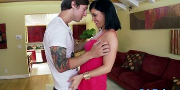 Facialized babe cheats by getting fucked by friend
