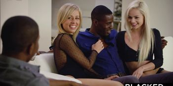 First Interracial Foursome For Elsa Jean And Zoey Monroe