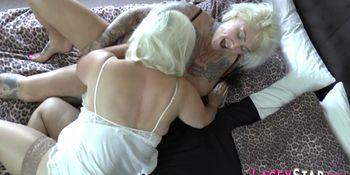 Oiled up lesbian granny