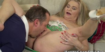 Cunt licked mature woman