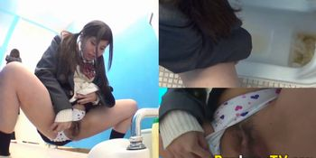 Real Asian teen pissing