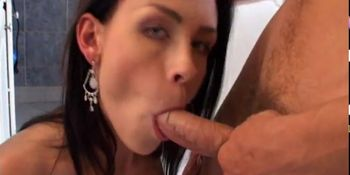 Dity MILF palying with eggplant, and a cock