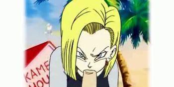 Animation of android 18 sucking a cock