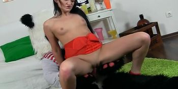 Opinion brunette in sexy panda girl red tempts join told
