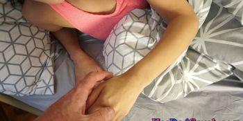 Jerking teen stepdaughter