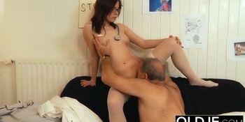 Old and Young Nurse Turns Checkup into Sex and Fucks