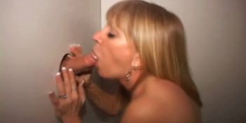 Whore gloryhole creampied
