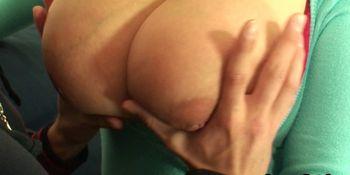 Huge boobs mature women rides his big dick