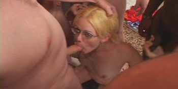 Anal Nasty Ass Eating Blonde Gang Fuck