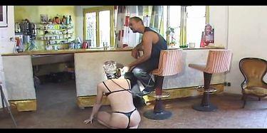 Bondage Video Treated Like A Dog